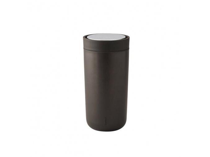 Hrnek to go I:cons Stelton 0,34 l metalický tmavě hnědý *