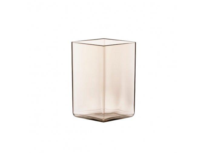 Váza Ruutu iittala 11,5x14 cmsvětle hnědá linen