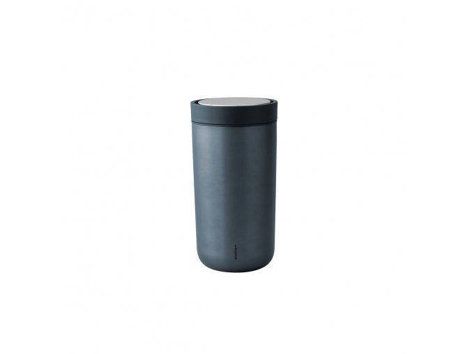 Termohrnek to go I:cons Stelton 0,2 l tmavě modrá metalická