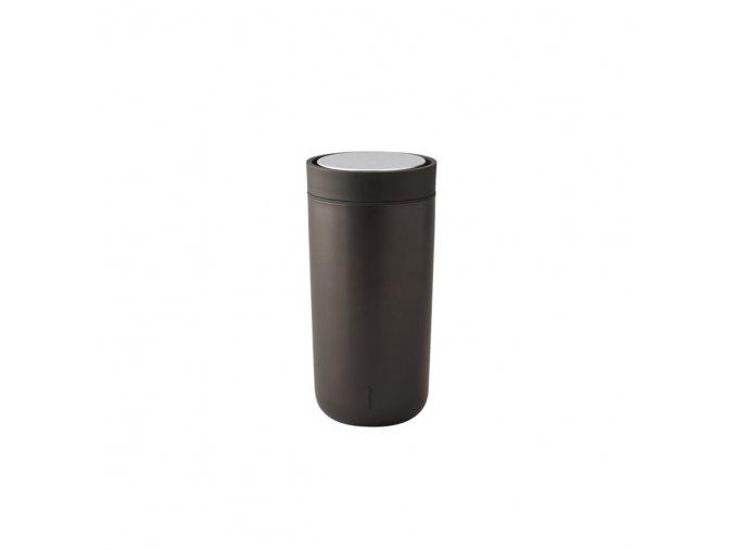 Hrnek to go I:cons Stelton 0,2 l metalický tmavě hnědý *