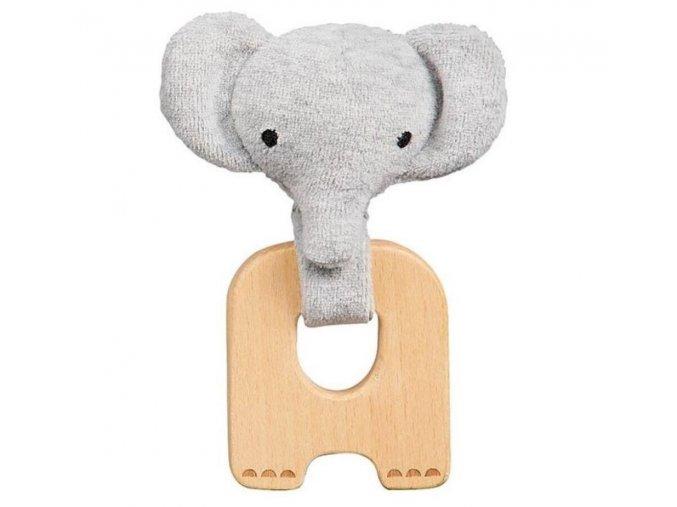 Dřevěné kousátko slon Petitcollage