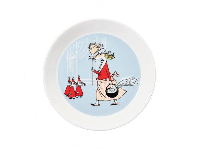 Talíř Moomin Fillyjonk Arabia 19 cm šedý