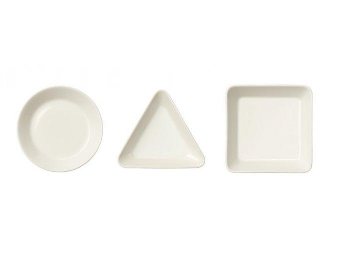 Sada tří talířků Teema Iittala bílá