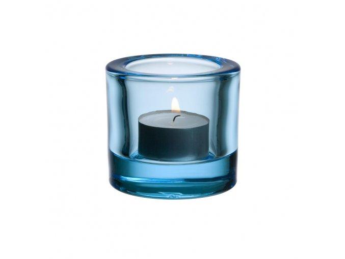 Svícen Kivi iittala světle modrý