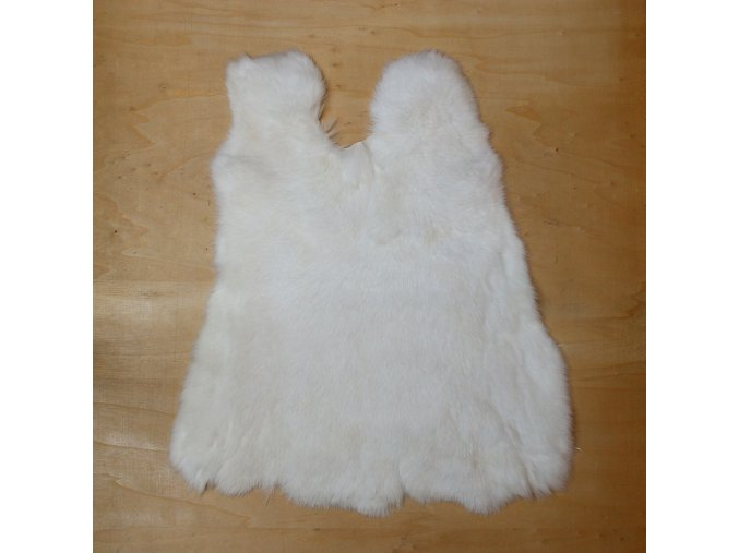 Králičí kožešina, bílá