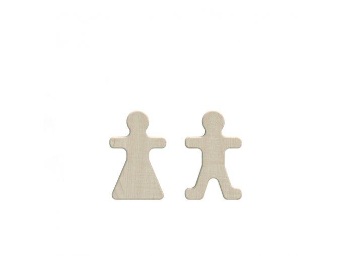 Dřevěné figurky paní a pán Ooh noo