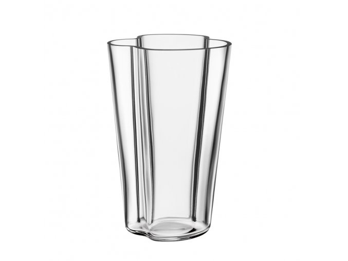 Váza Alvar Aalto 22 cm čirá