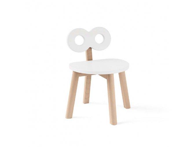Dětská židle DOUBLE–O ooh noo bílá