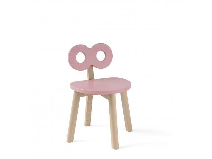 Dětská židle Oohnoo růžová