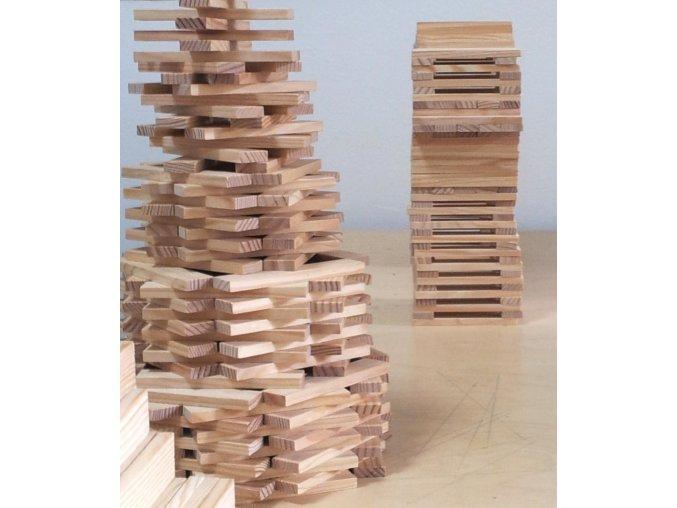 Kapla 1000 – dřevěná stavebnice