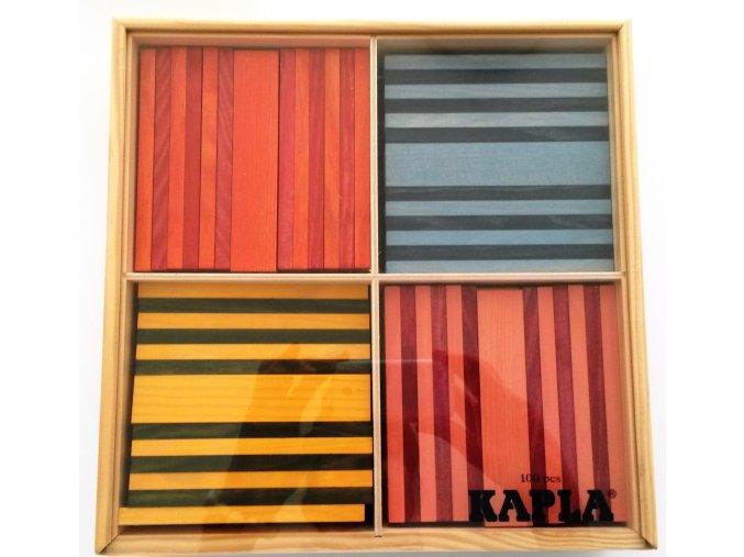 Kapla 100 Octocolor – stavebnice ze dřeva