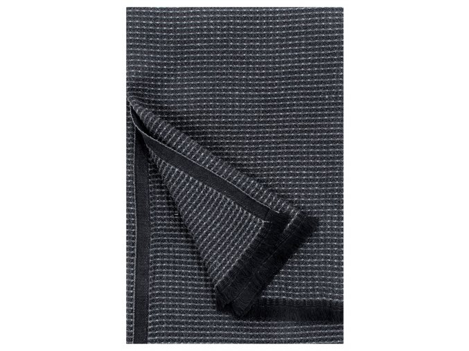 Osuška LAINE 85x175 cm Lapuan Kankurit černo–grafitová