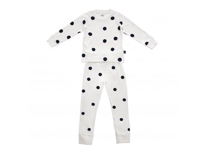 Pyžamo bílé s černými tečkami ooh noo vel. 104-110