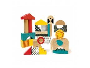 Petitcollage Dřevěné kostky zvířátka (2)