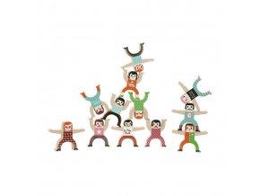 Dřevěné postavičky akrobati Vilac