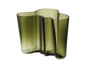 Váza Alvar Aalto iittala 16 cm mechově zelená