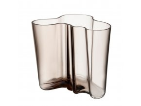 Váza Alvar Aalto iittala 16 cm světle hnědá linen