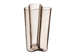 Váza Alvar Aalto iittala 25,1 cm světle hnědá linen