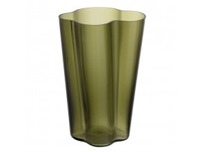 Váza Alvar Aalto iittala 27 cm mechově zelená