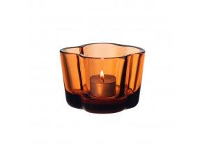 Svícen Alvar Aalto iittala 6 cm oranžový