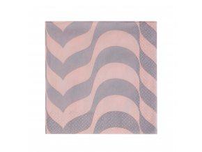 Papírové ubrousky Alvar Aalto iittala 33 cm pudrové/linen