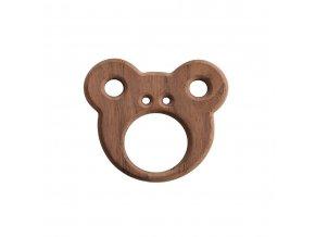 Dřevěné kousátko medvěd ooh noo