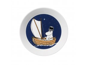 Talíř Moomin Moominpappa Arabia 19 cm modrý