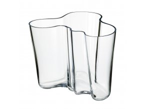 Váza Alvar Aalto iittala 16 cm čirá