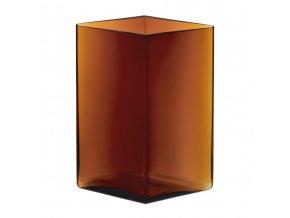 Váza Ruutu iittala 20,5x27 cm měděná