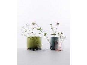 Váza Ruutu Iittala 115x180 šedá