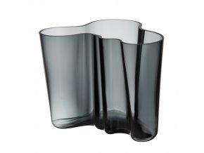 Váza Alvar Aalto iittala 16 cm tmavě šedá