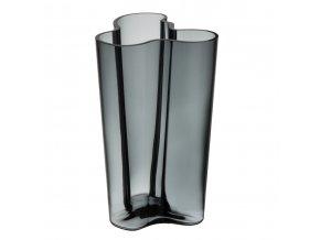 Váza Alvar Aalto iittala 25,1 cm tmavě šedá