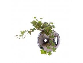 Létající květináč Flying Jungle Evervit stříbrný