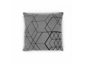 Povlak na polštář MATRIX ooh noo tmavě šedý