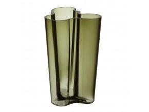 Váza Alvar Aalto iittala 25,1 cm mechově zelená