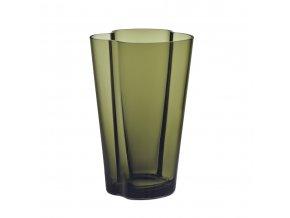 Váza Alvar Aalto 22 cm mechově zelená
