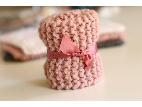 Deka TULA pro panenky růžová