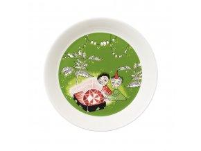 Talíř Moomin Thingumy & Bob & Arabia 19 cm zelený