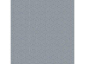 Tapeta Box Eco Tapeter modrá / tmavě šedá