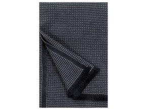 Osuška LAINE Lapuan Kankurit 85x175 cm černo–grafitová