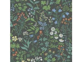 Tapeta Flora BorasTapeter tmavě zelená