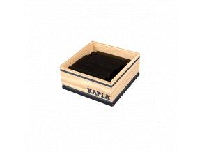 Kapla 40 Monocolor černá – dřevěná stavebnice