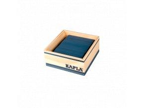 Kapla 40 Monocolor tmavě modrá – dřevěná stavebnice