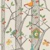 Tapeta Trees and Birds BorasTapeter oranžová