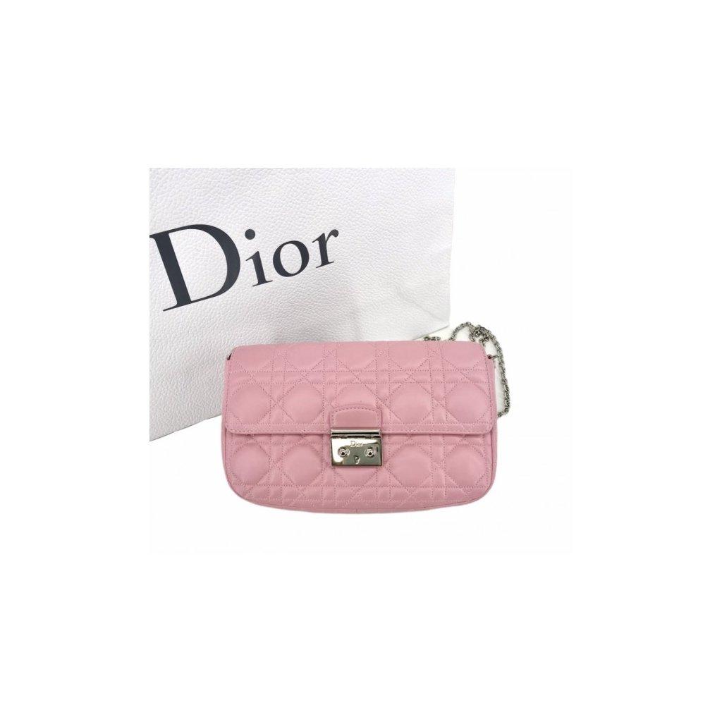 CHRISTIAN DIOR Miss Dior Promenade Pink Lambskin Leather Clutch Bag