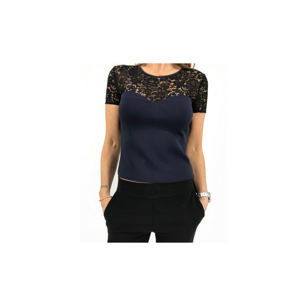 CHRISTIAN DIOR Top with Lace