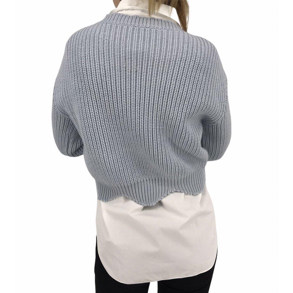 CHRISTIAN DIOR Scallop Crop Sweater