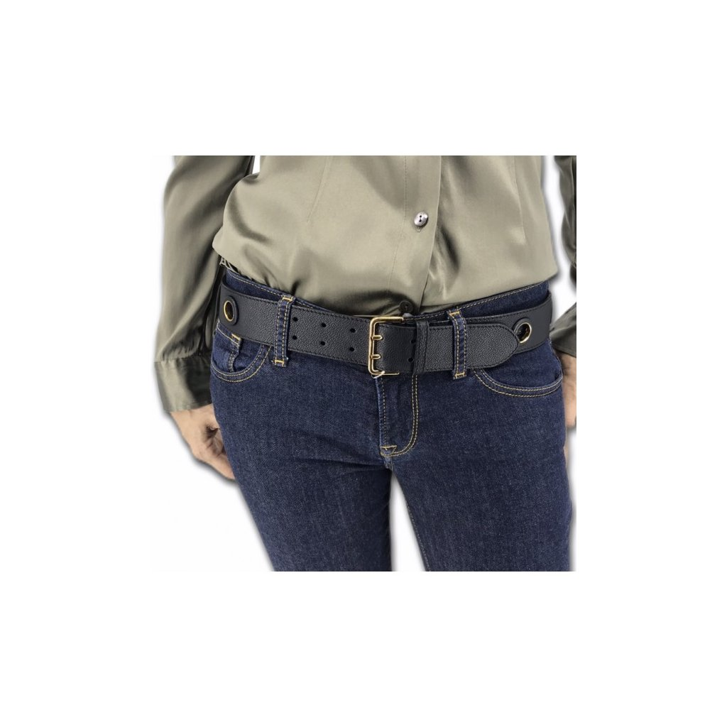 BURBERRY Black Leather Belt