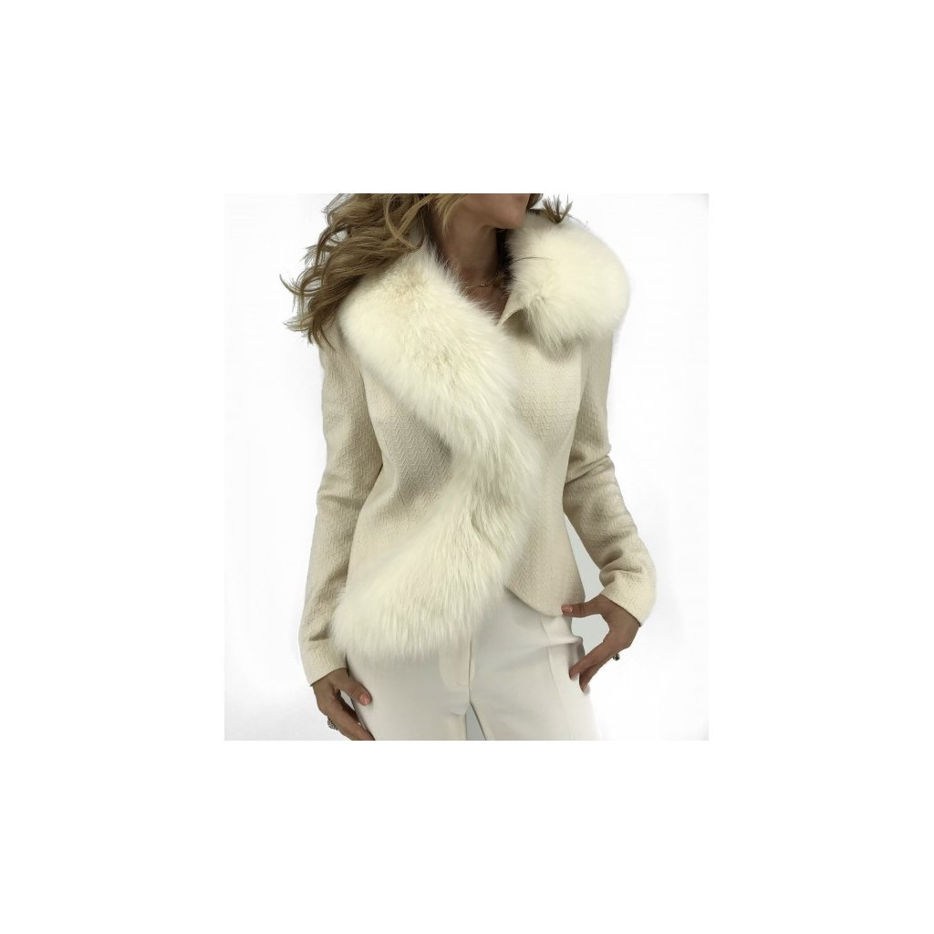 CHRISTIAN DIOR Jacket with Fox Fur Collar