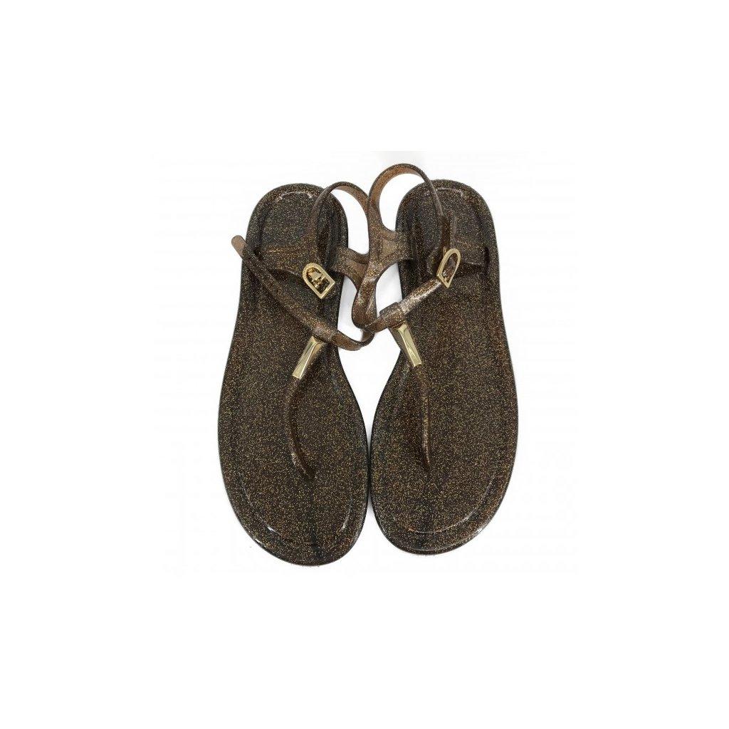 JIMMY CHOO Brown Glittering Sandals
